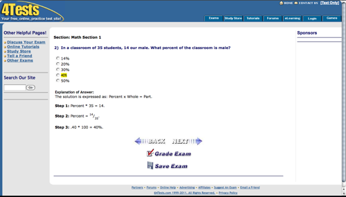 4tests sat prep screenshot