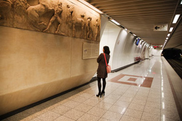 Ancient Greek Art in Underground Tunnel