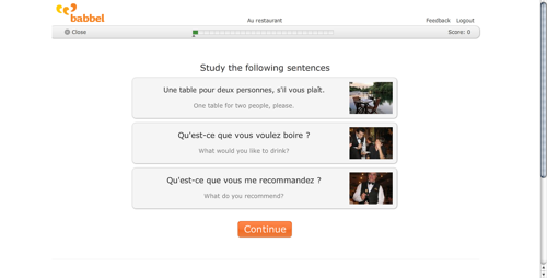 Babbel French lesson screencap