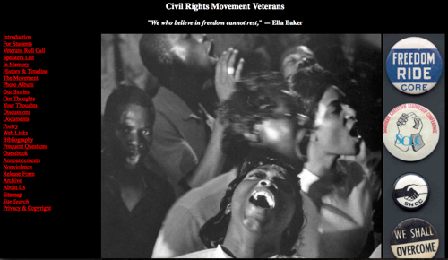 veterans of the civil rights movement history timeline