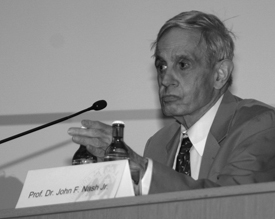 John Forbes Nash teaches at Princeton