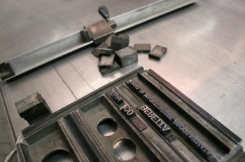 old fashioned letterpress