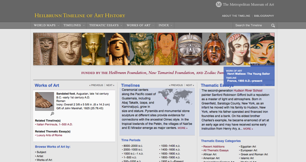Simple Art Timeline : Digital resources from museums the metropolitan museum of art