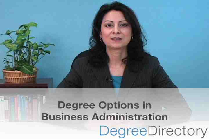 Business Administration Degree Options - Video