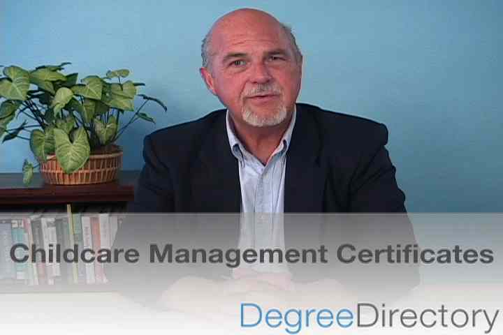 Childcare Management Certificates - Video