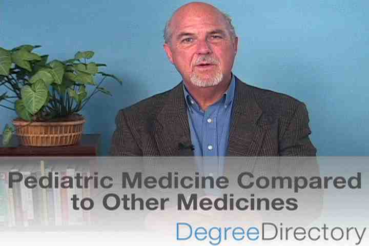 Pediatric Medicine Compared to Other Medicines - Video