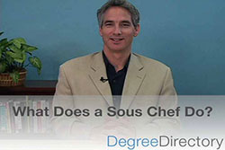 what does a sous chef do video - Sous Chef Education Requirements