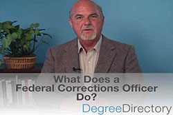 What Does a Federal Corrections Officer Do? - Video