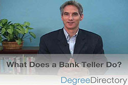 What Does A Bank Teller Do Video